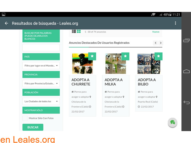 Web gratuita de difusiones Leales.org