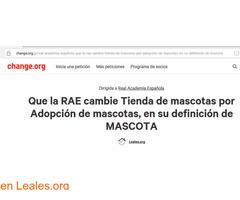 Campaña en Change.org para la RAE