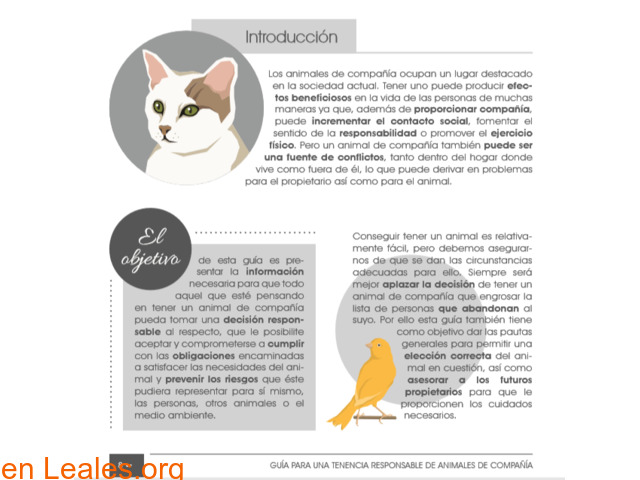 Guía de tenencia responsable de animales - 3