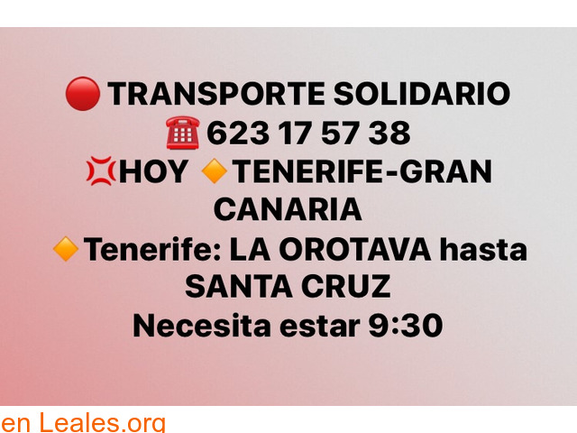 TRANSPORTE TENERIFE -GRAN CANARIA.