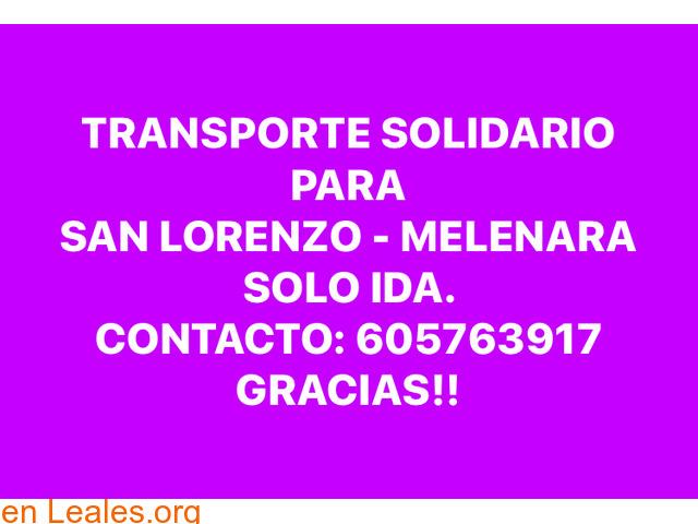 TRANSPORTE SOLIDARIO,SAN LORENSO-MELENAR