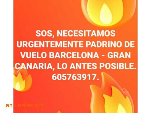 PADRINO DE VUELO: BARCELONA-GRAN CANARIA